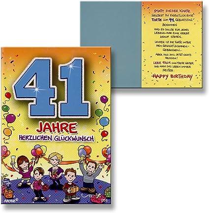 Archie Anniversaire Carte D Anniversaire 41 Ans Jeunes Filles Bleu Gluckwunschk Art Amazon Fr Fournitures De Bureau