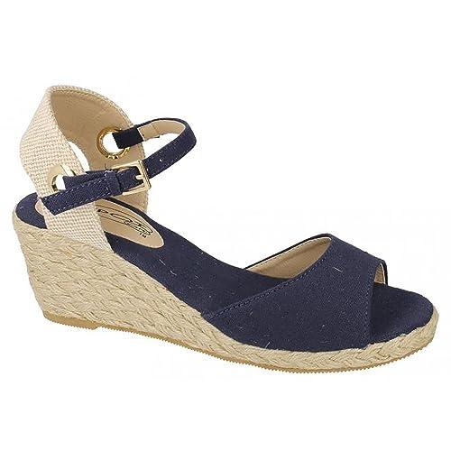 Spot On - Alpargatas con cuña de esparto para mujer: Amazon.es: Zapatos y complementos