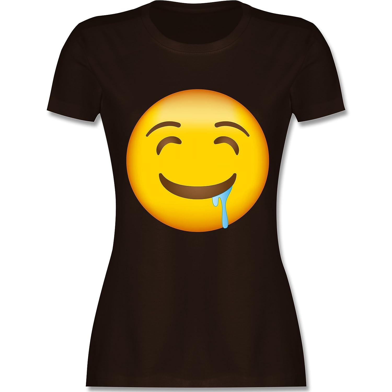 Comic Shirts - Emoji Wasser im Mund - Damen T-Shirt Rundhals: Shirtracer:  Amazon.de: Bekleidung