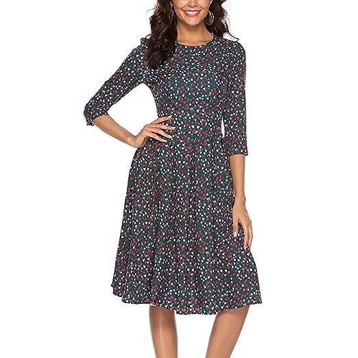 Amazon.com: Tantisy ♧↭♧ Plus Size Dresses,Women\'s Three Quarter ...