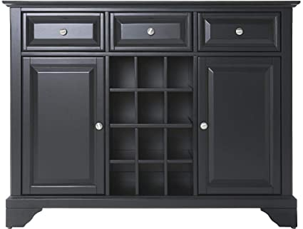 amazon com crosley furniture lafayette wine buffet sideboard rh amazon com modern black buffet sideboard antique black buffet sideboard