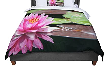 KESS InHouse Iris Lehnhardt Blossoms All Over Flowers Twin Comforter 68 X 88