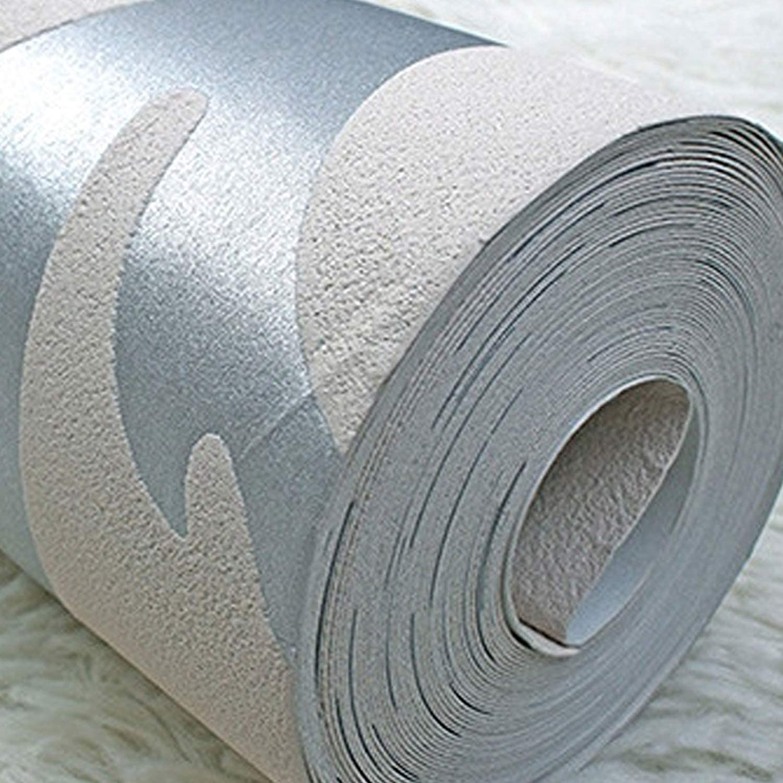 JueYan 3D Murale Effet de Style en Relief Fonction Motif Papier Peint Motif damass/é de Style Victorien Rouleau de Fond Chambre /à Coucher D/écoration int/érieure 10 m Dor/é(Non Autocollant)
