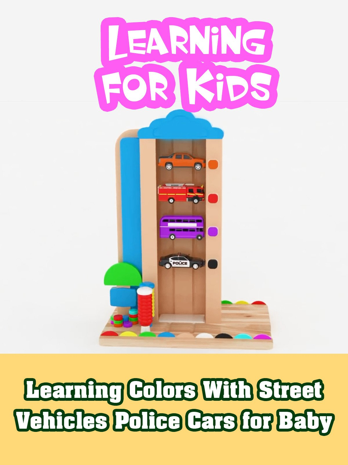 Watch Learning Colors With Street Vehicles Police Cars For Baby Prime Video