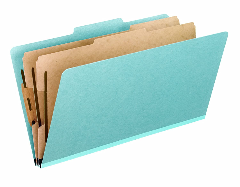 Pendaflex Heavy Duty Pressboard Classification Folder, Legal, Sky Blue, 10/Box 03604