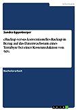 eBackup versus konventionelles Backup in Bezug auf das Datenwachstum eines Terrabyte bei einer Kostenreduktion von 50%