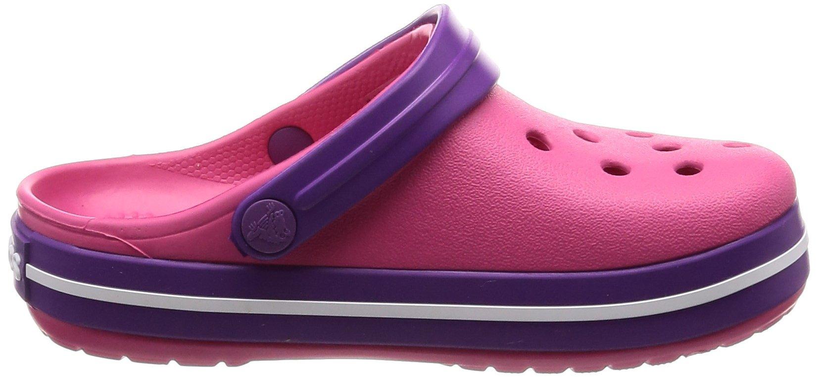 Crocs Kids' Crocband Clog, Paradise Pink/Amethyst, 1 M US Little by Crocs (Image #6)
