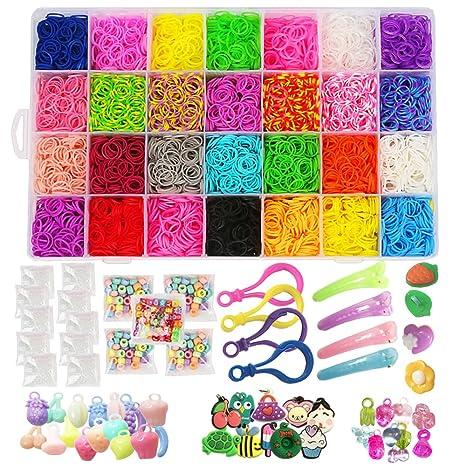 11500 Rainbow Loom Bands Mega Refill Kit Rubber Band Bracelet Kit