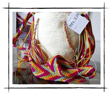 Amazon.com : Wayuu Bag Handmade. Mochila. Cross Body Bag. Crochet. 6