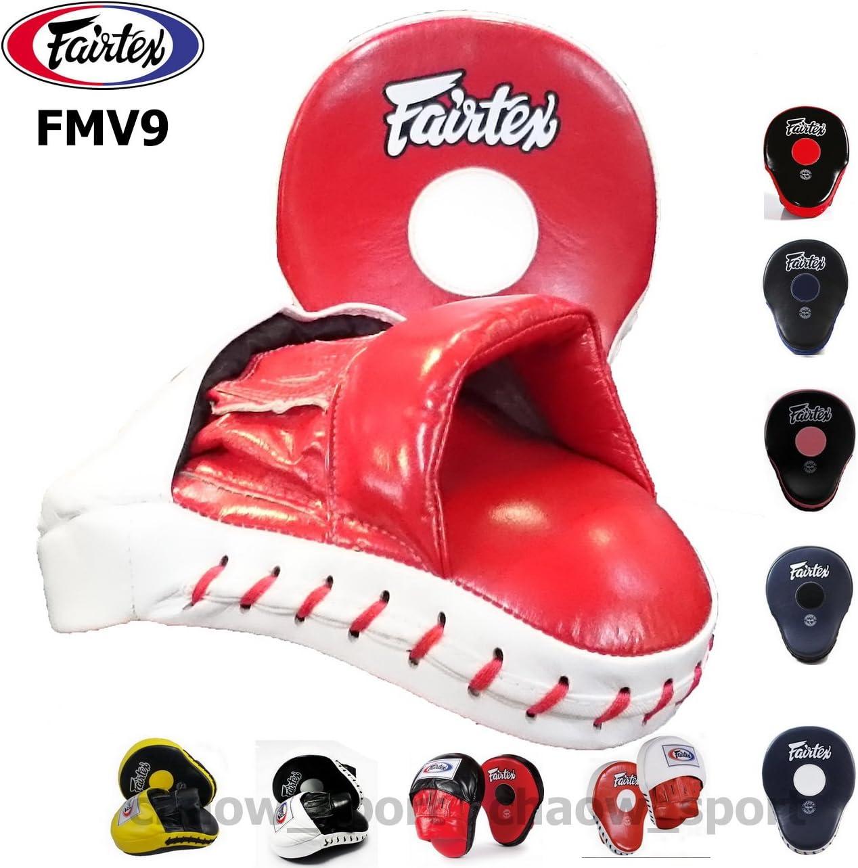 Fairtex fmv9究極Contou赤 Focus Mitts Punchingトレーニングタイ式ボクシング レッド/ホワイト