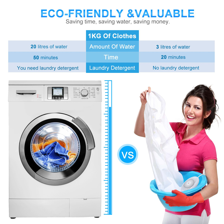 Turelar Portable Travel Washer Machine Washwow