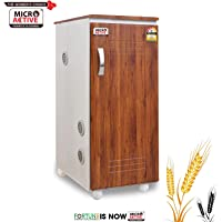MICROACTIVE® Alpha Fully Automatic Domestic Flour Mill,Aata Maker,Atta chakki,Ghar Ghanti with Standard Accessories, Made with High Quality Plywood.(Wooden Texture White Laminate)