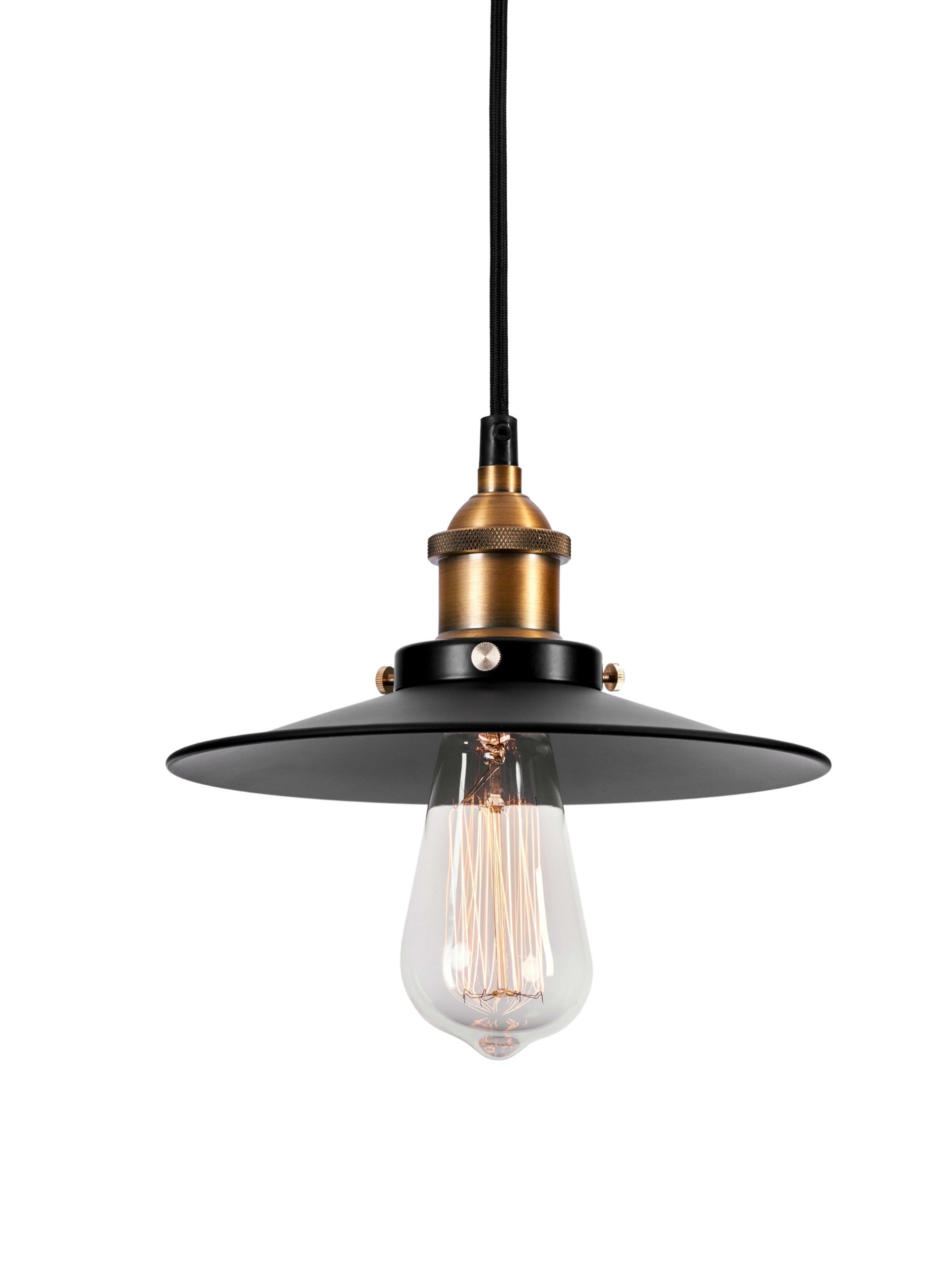 LightLady Studio - Farmhouse Lights - Pendant Light Vintage - Mini Black Pendant Light - Industrial Pendant Lighting - Vintage Barn Hanging Lamp - Fits with Modern, Industrial, Rustic, Farmhouse Style by LightLady Studio