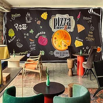 Custom 3d mural Chalk pintado negro pizarra dibujos animados ...