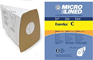 DVC Micro-Lined Paper Replacement Bags Style C Fit Eureka Mighty Mite 3000, 3100 Series -3 Bags