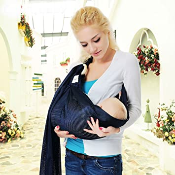 Amazon Com Breathable Baby Wrap Water Ring Sling Baby Carrier