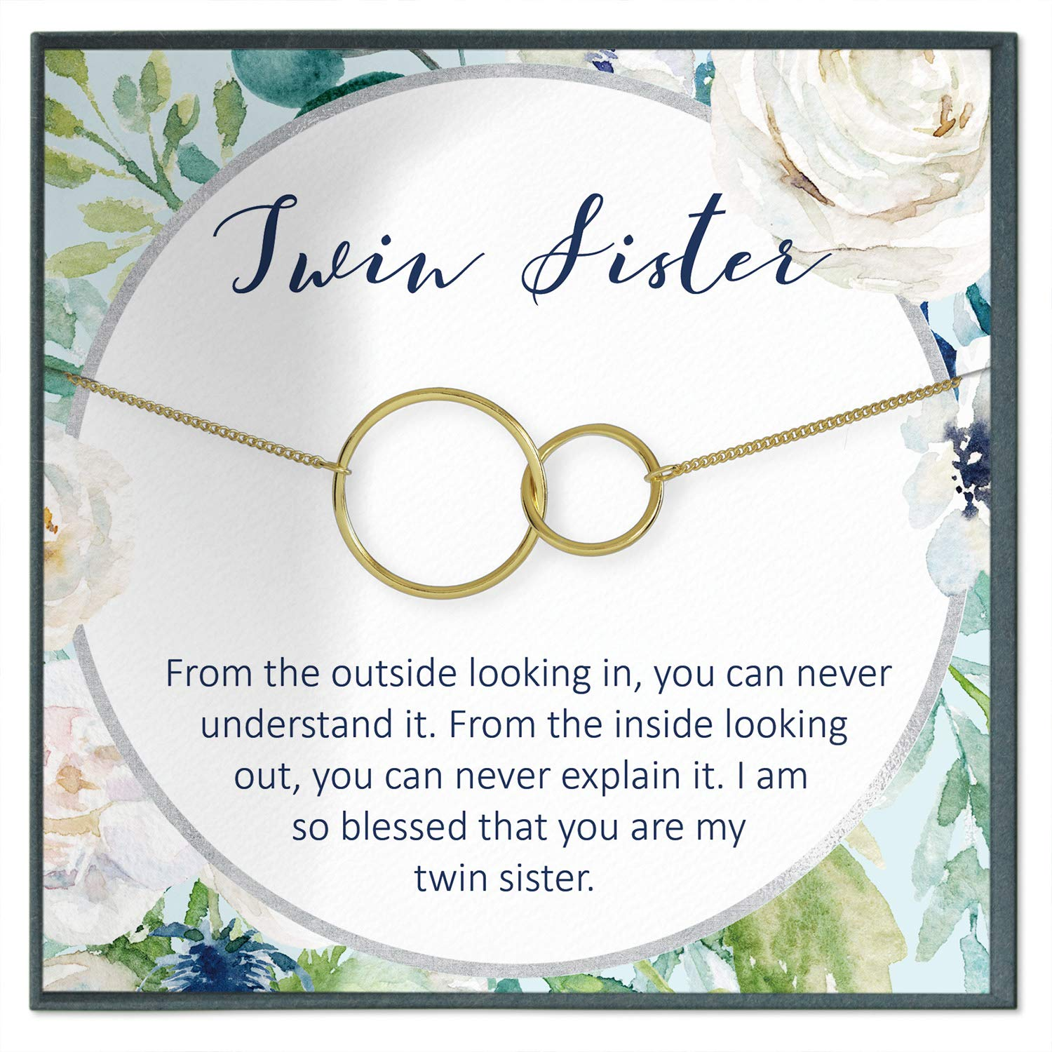 Amazon.com: Twins Gift, Twin Sister Necklace Gift Idea ...