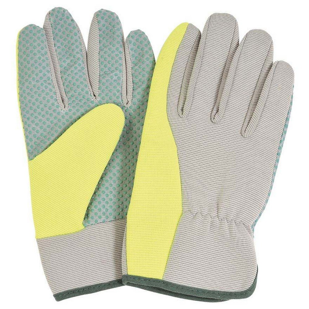 Verdemax 4958 Large Garden Glove with PVC Dotted Palm and Elastic Back