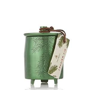Thymes Heritage Frasier Fir Green Metal Tin - 4 Oz