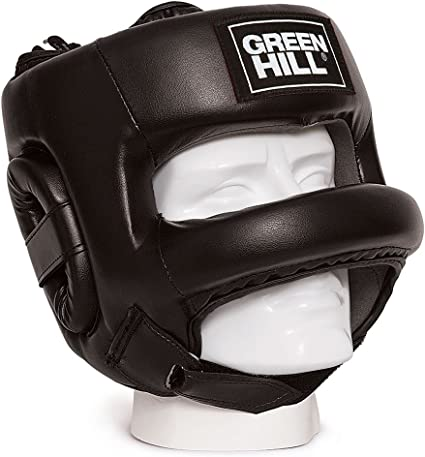 Leather Face Head Guard Protector Helmet Headgear Boxing Gear Kick Trainning