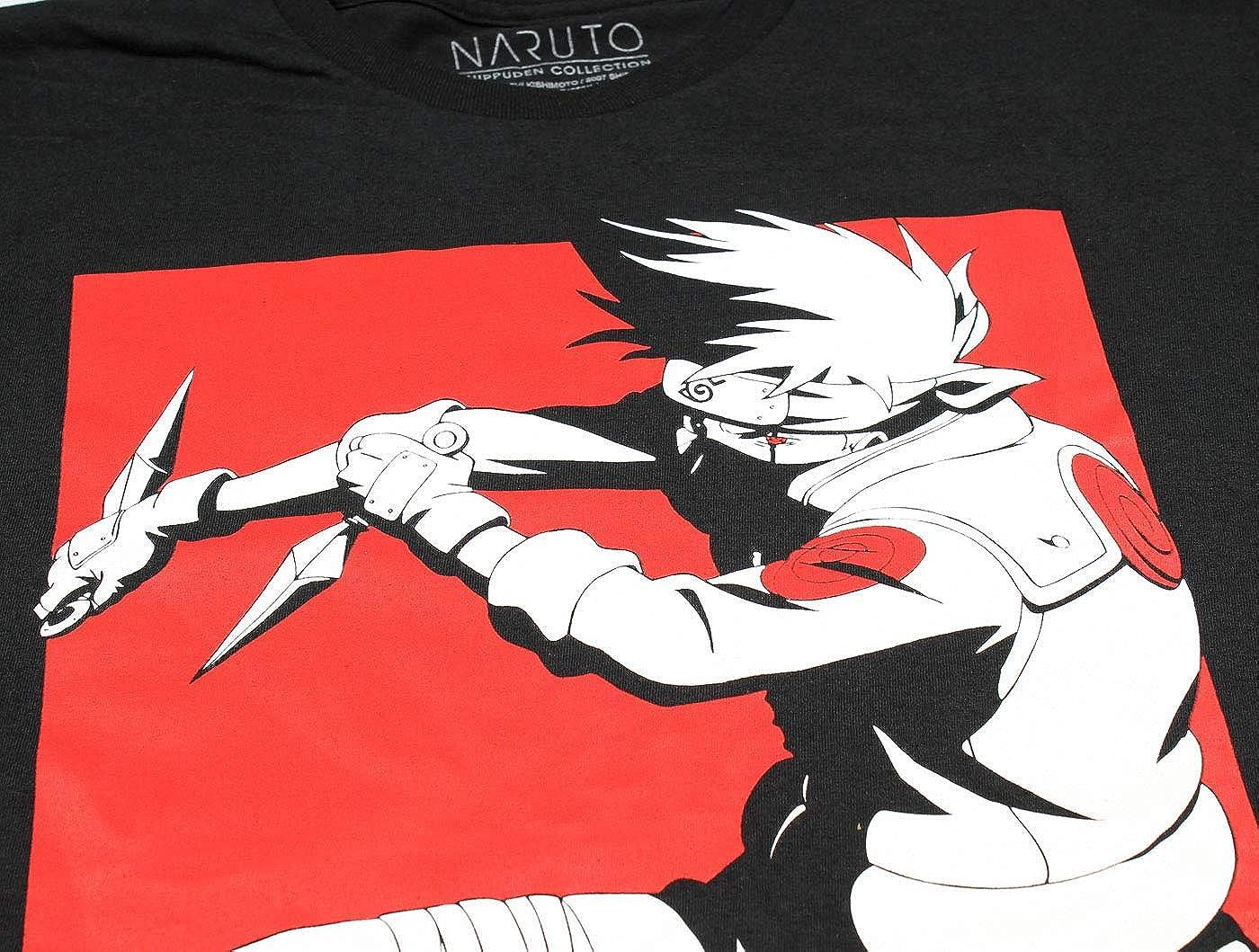 Fashion Naruto Shirt Mens Kakashi Red Out Team 7 Leader Licensed Character T-Shirt