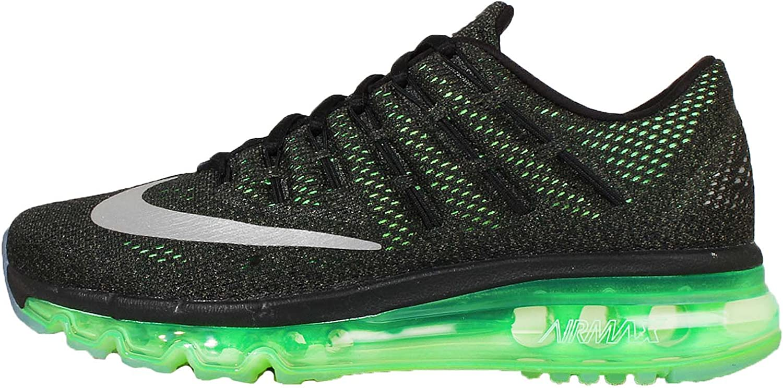 Nike Air MAX 2016 (GS), Zapatillas de Running para Niños, Negro/Plateado (Blk/Rflct Slvr-Vltg Grn-MDM OL), 38 EU: Amazon.es: Zapatos y complementos