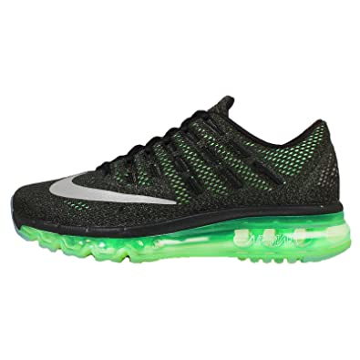 wholesale dealer 7233c 4af6f Nike Boy s Air Max 2016 (GS) Running Shoe Black Voltage Green Olive