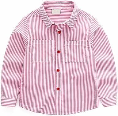 QJH Camisa - para Niño Rosa Rosa 3-4 Años: Amazon.es: Ropa y ...