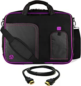 "Purple Laptop Bag, HDMI Cable for Dell Latitude, Inspiron, Precision, XPS, Alienware, Vostro G3 G5 G7 14"" to 15.6 inch"