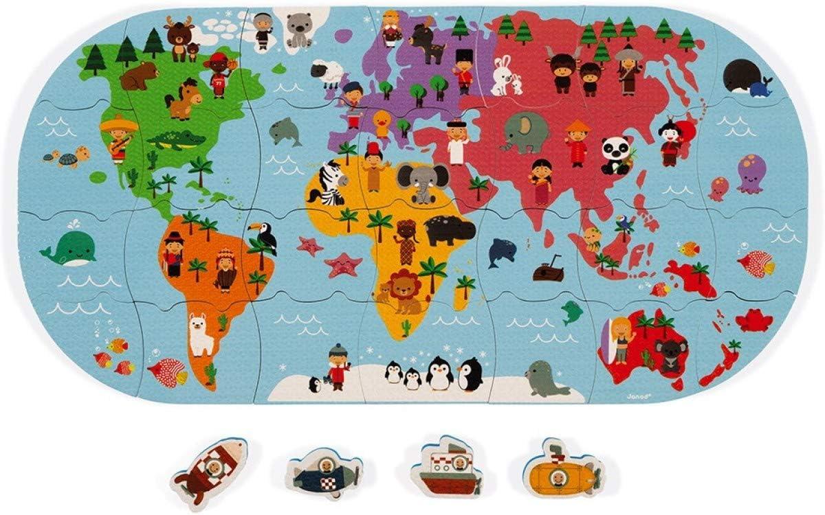 Juratoys-Janod Mapa de los exploradores del baño.: Amazon.es: Juguetes y juegos