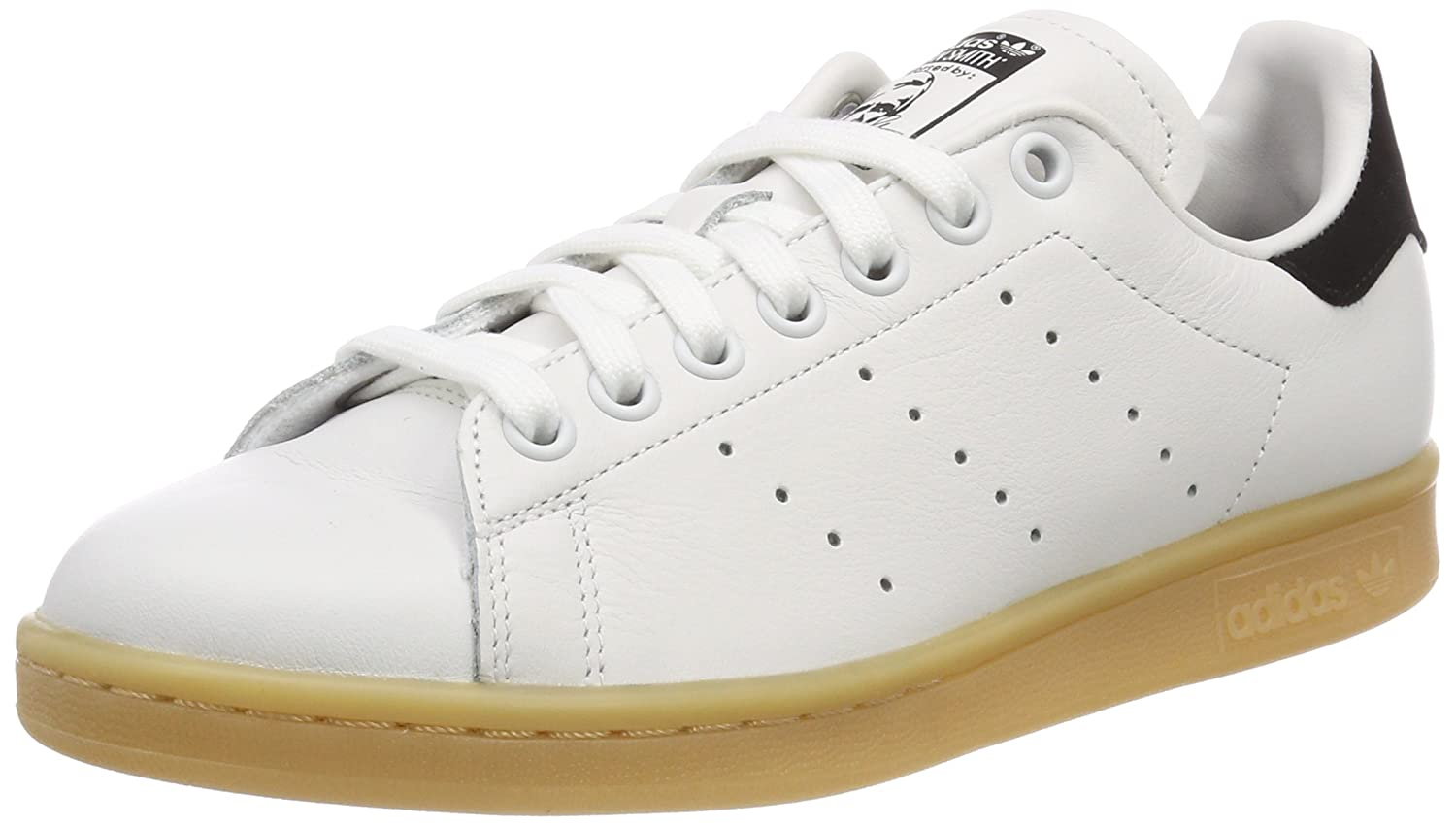 adidas Damen Stan Smith Gymnastikschuhe, Weiß  36 2/3 EU|Elfenbein (Crystal White S16/Crystal White S16/Core Black)