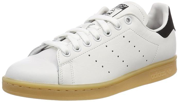 adidas Unisex-Erwachsene Stan Smith Basketballschuhe, Weiß (Footwear White/Footwear White/Core Black), 45 1/3 EU