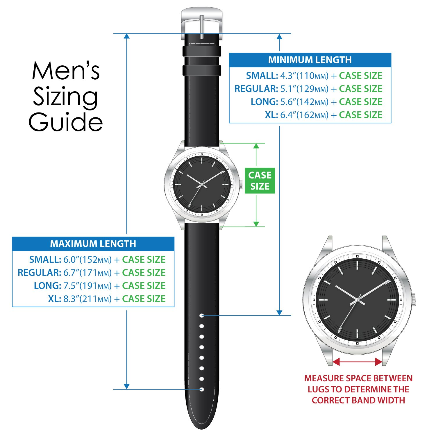 Speidel Genuine Leather Watch Band Black Classic Calf Skin Replacement Strap,19mm, Stainless Steel Metal Buckle Clasp, Watchband Fits Most Watch Brand