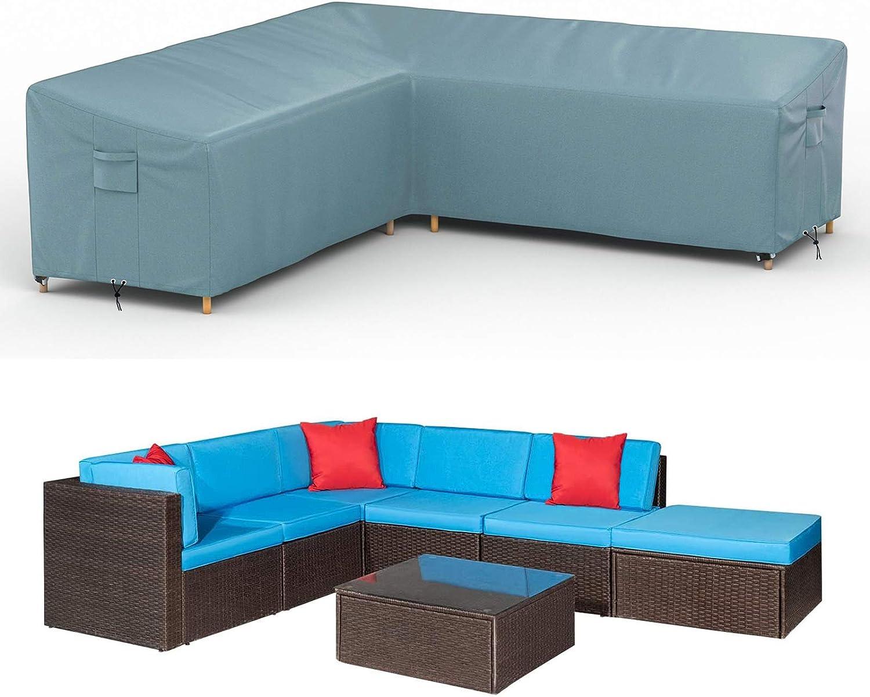 MOTUSHI Patio Furniture Cover L Shaped, 83