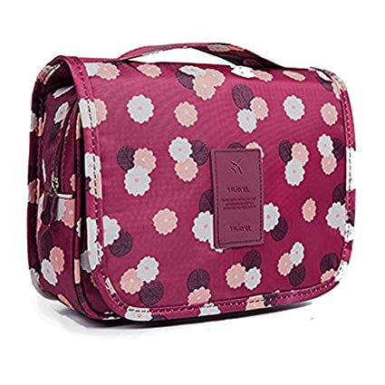 Amazon.com: Bolsa de aseo portátil para colgar de viaje ...