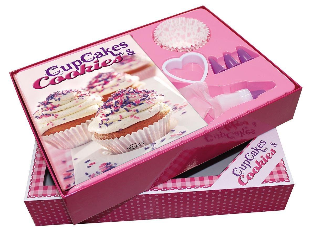 Buch-Box Cupcakes & Cookies: Rezeptbuch plus 23 Cupcake-Backförmchen, Spritzbeutel mit 4 Tüllen und Herzausstecher: Rezeptbuch plus 23 Spritzbeutel mit 3 Tüllen und Herzausstecher