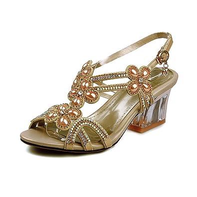 gold heels Mature