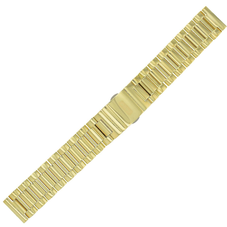 Rado 18–18 mm Edelstahl Gold Herren-Armbanduhr Band