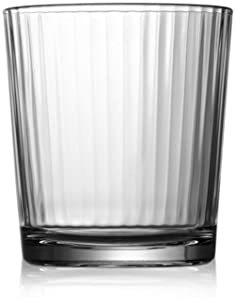 Circleware 40101 Hill Street Set of 4-12.5 oz Heavy Base Whiskey Glasses Drinking Glassware, Party Beverage Cups for Water, Liquor, Cocktails, Beer, Ice Tea, Juice, Gifts, 4pc DOF, Spectrum