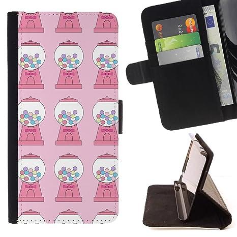 For HTC One M8 Case , Dulces chicle Modelo rosado de la ...