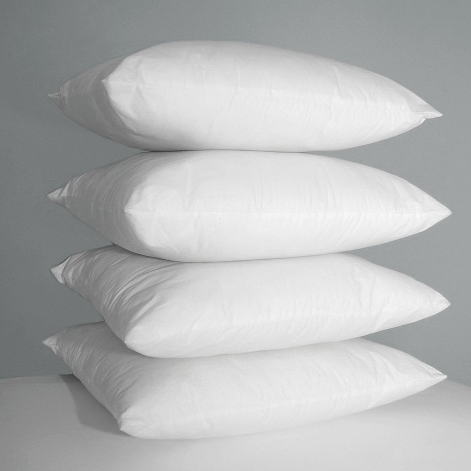 Hotel Linens pm 4 x LUXURY PILLOWS - SUPER BOUNCE BACK PILLOWS HOLLOW FIBRE FILLED PILLOW