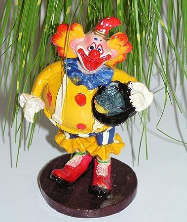 Mega Trendy Clown Stehend Mit Vogel Im Hut 14x8x6 Cm Sammlerposten