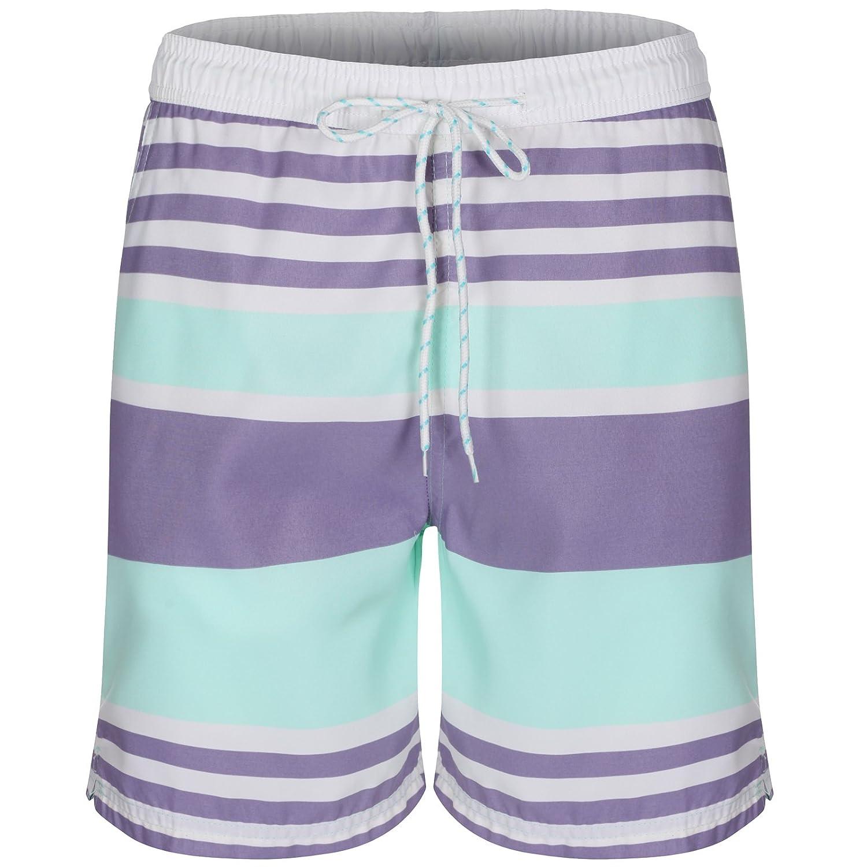 Soul Star Men's Striped Swim Shorts