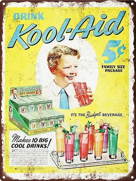 Kool-Aid Drink Póster de Pared Metal Creativo Placa ...