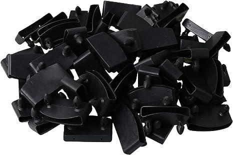 Yibuy - Tapas de extremo de plástico para reemplazar en somieres. Tapas de extremo para somier, color negro. 50 unidades
