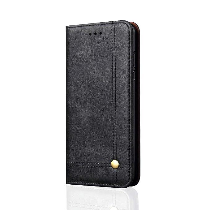 Funda para Xiaomi Mi A1 Piel Suave de Negocio Funda de Cuero Genuino Flip Case del