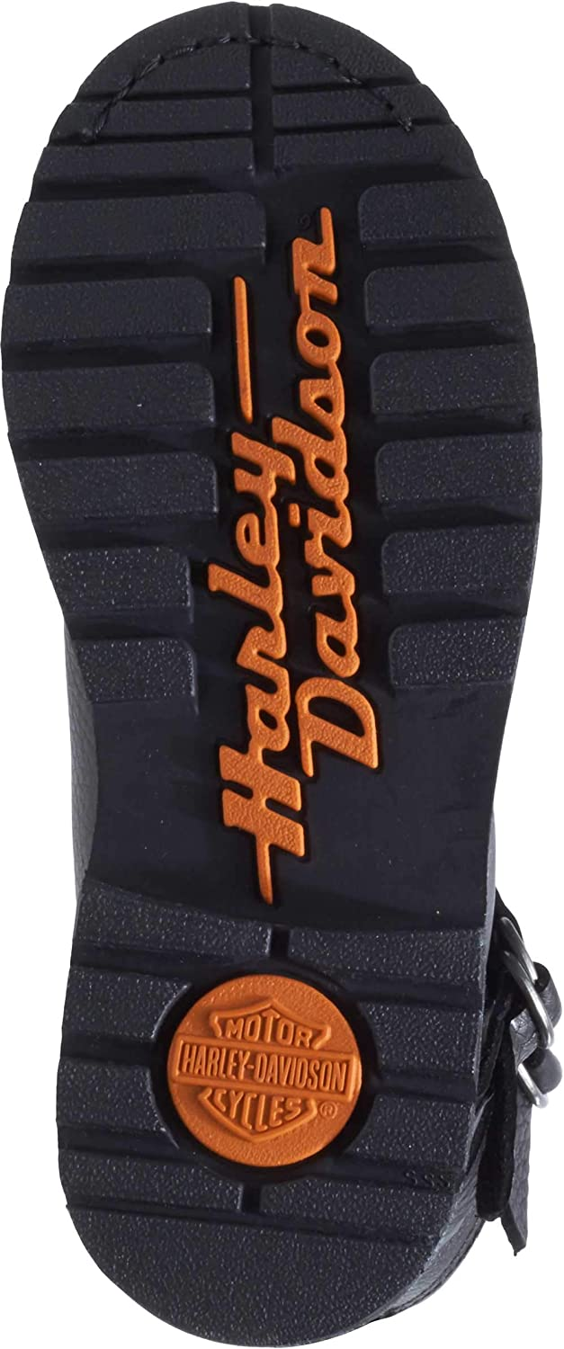 Harley-Davidson Womens Maridell 7-Inch Black Leather Motorcycle Boots D87160
