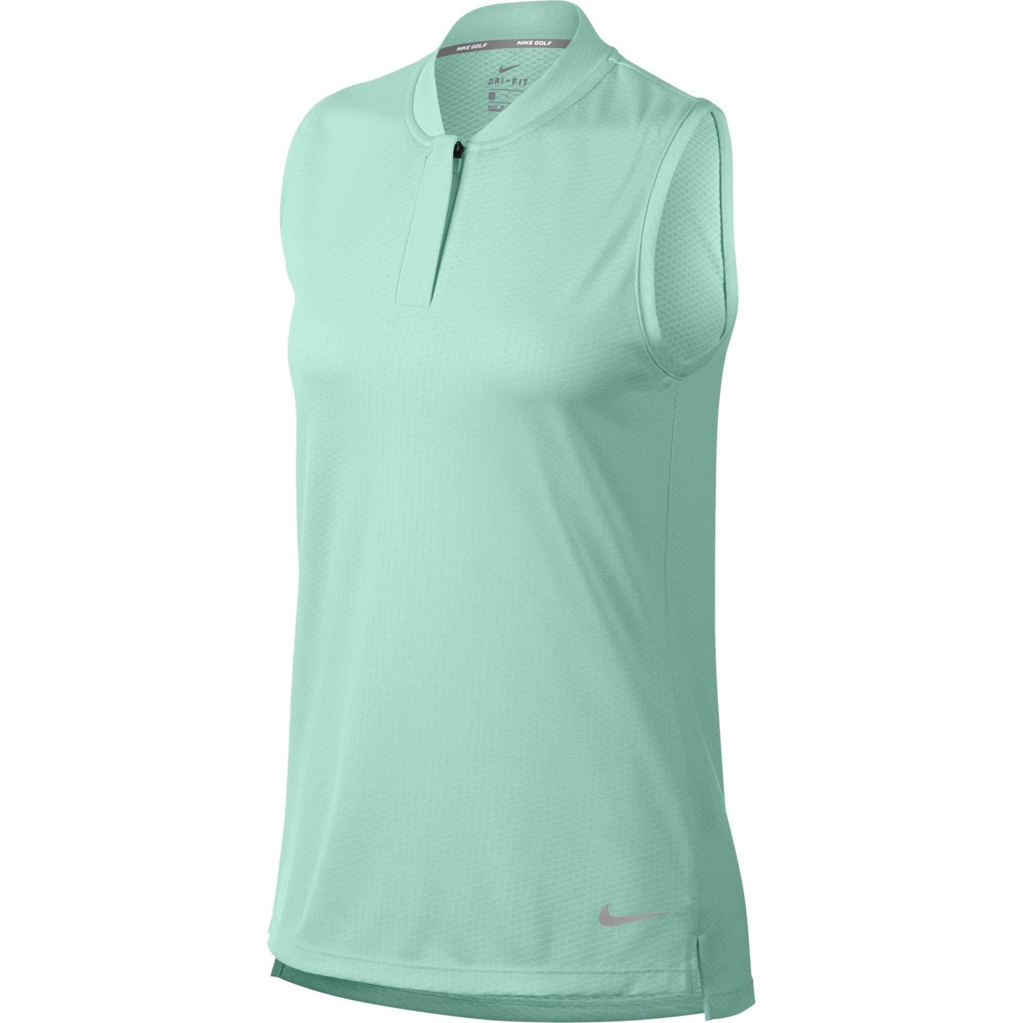 Nike Women's Sleeveless Blade Dry Golf Polo (Igloo, Small) by Nike