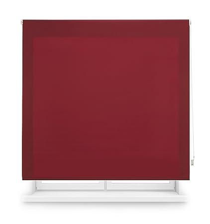 Blindecor Ara - Estor enrollable translúcido liso, 160 x 175 cm, color burdeos