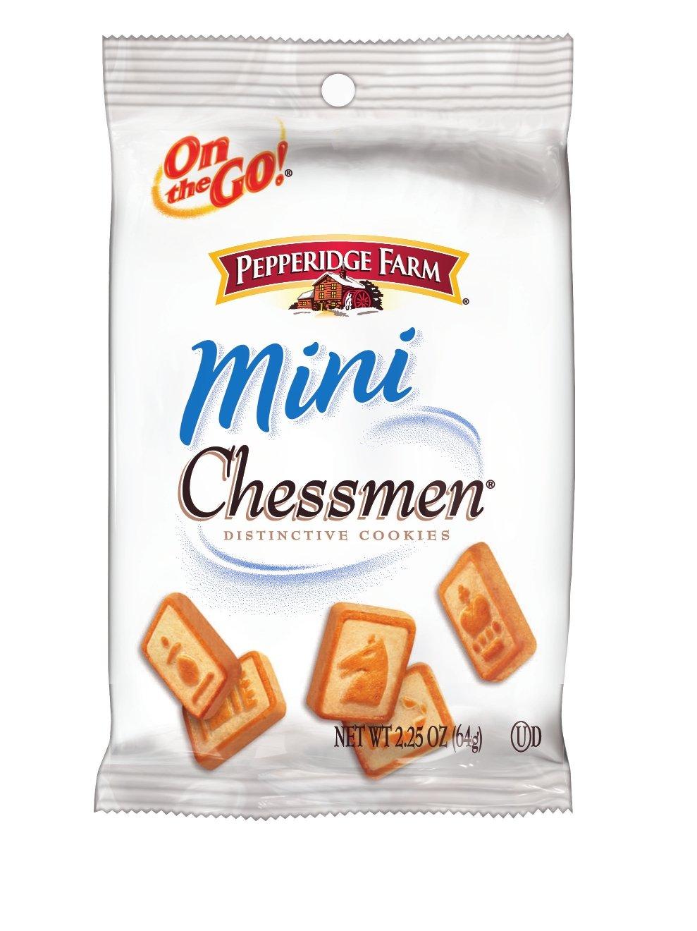 Pepperidge Farm Sweet & Simple Cookies Mini Chessmen, 2.25 Ounce (Pack of 8)
